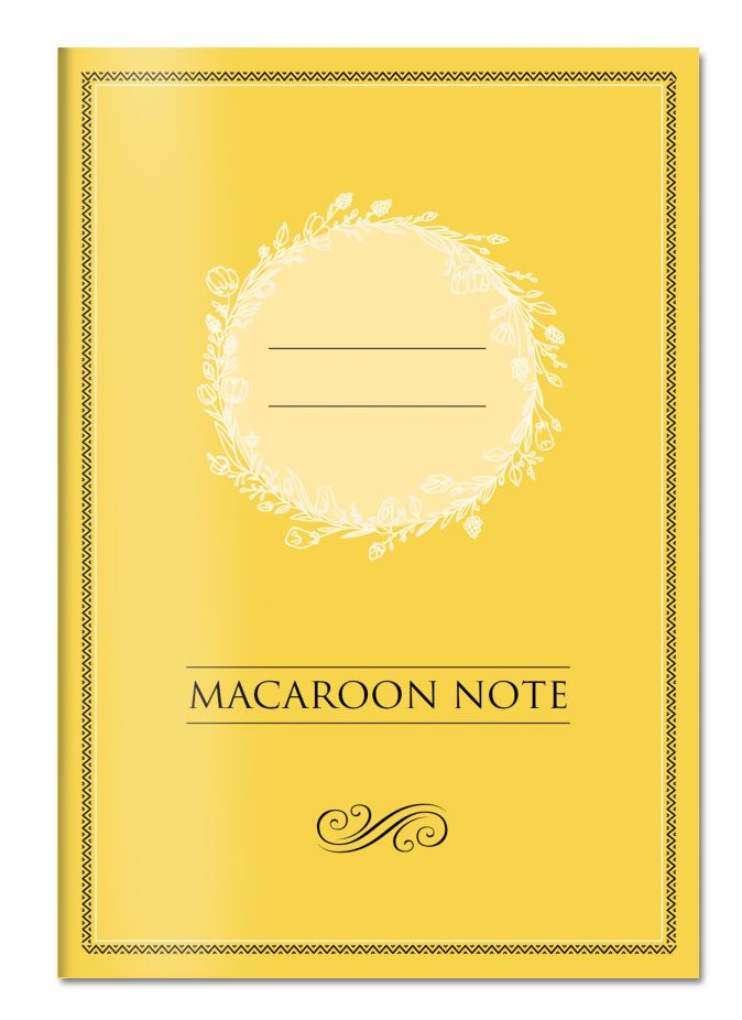 Блокнот с цветными страницами (лимон, мягкая обложка, линовка, на скобе)
