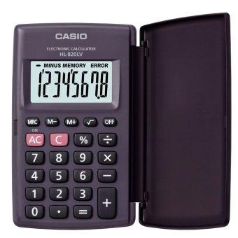 Калькулятор CASIO карманный с крышкой, HL-820LV-BK-S-GH, 8 разрядов, питание от батарейки, 104 х 62,5 мм