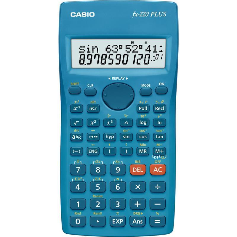 Калькулятор CASIO инженерный, FX-220PLUS-S-EH, 181 функция, питание от батарейки, 155х78 мм., Сертифицирован для ЕГЭ casio casio fx 220plus