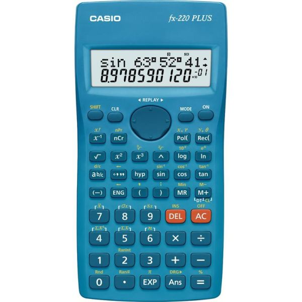 Калькулятор CASIO инженерный, FX-220PLUS-S-EH, 181 функция, питание от батарейки, 155х78 мм., Сертифицирован для ЕГЭ