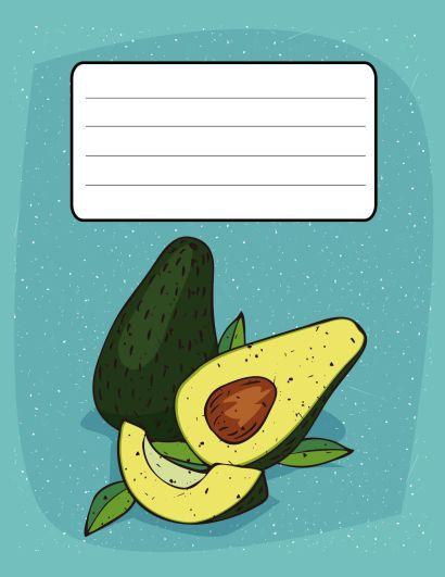 Тетрадь Авокадо (клетка) - фото 1