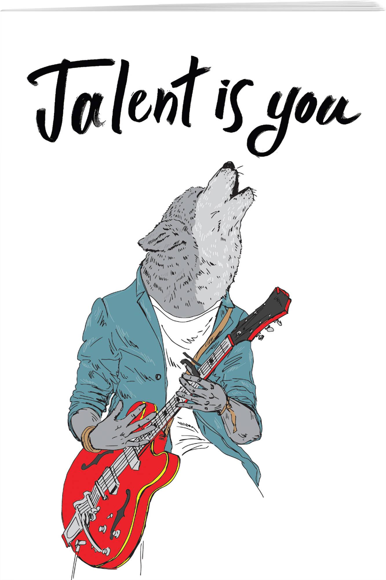 Talent is you (А5, мягкая обложка), ISBN 9785040958542, БОМБОРА, 2018, Блокноты Like , 978-5-0409-5854-2, 978-5-040-95854-2, 978-5-04-095854-2 - купить со скидкой