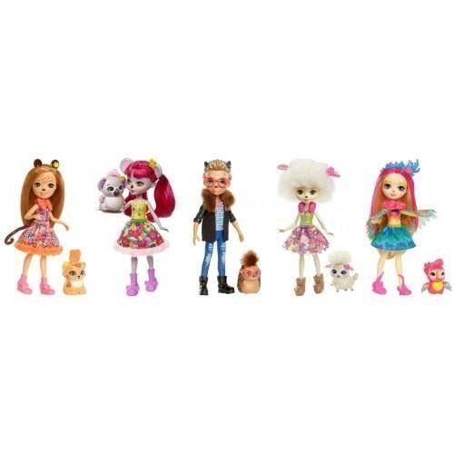 Enchantimals Дополнительная кукла со зверюшкой в ассорт.
