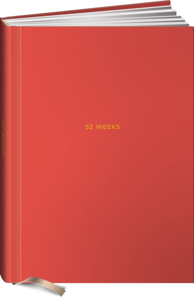Веднеева В. - 52 weeks / Ежедневник: 52 недели для наблюдения за собой обложка книги