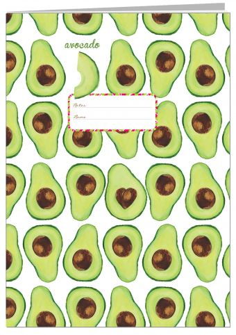 Тетрадь. Авокадо (Fixprice)