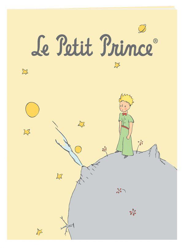 Тетрадь Маленький принц. желтая (48 л., клетка)