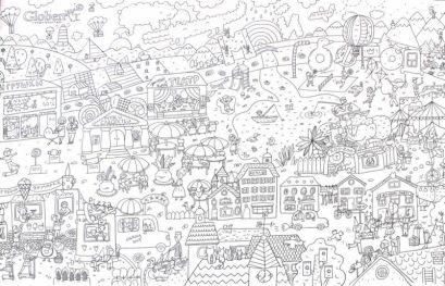 """Огромная раскраска """"Мой город"""" 120х80см (упаковка: тубус-коробка с европодвесом) - фото 1"""