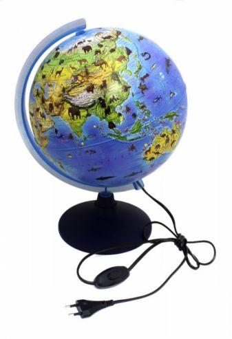 Глобус Зоогеографический (Детский) с подсветкой