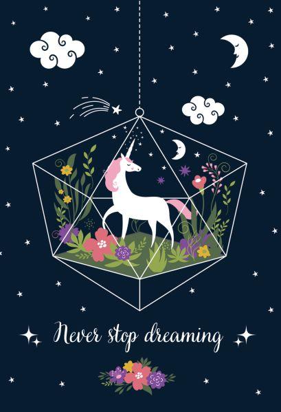Обложка для паспорта. Единорог. Never stop dreaming - фото 1