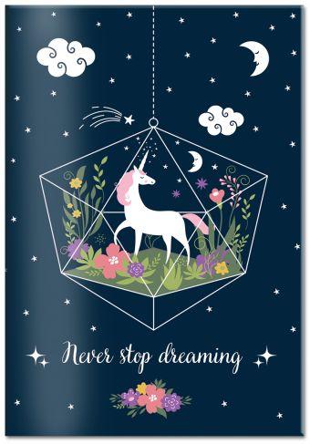 Обложка для паспорта. Единорог. Never stop dreaming