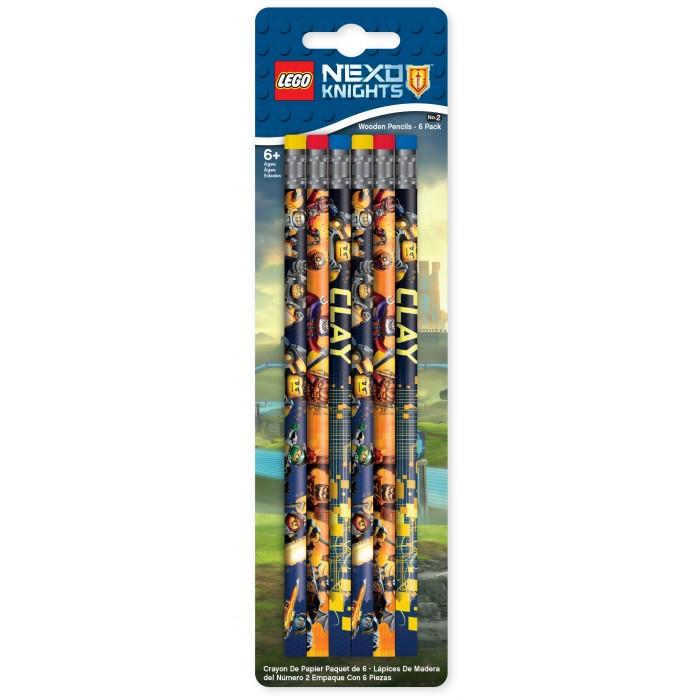 Набор карандашей (6 шт.) LEGO Nexo Knights (Рыцари Нексо) конструкторы lego lego игрушка нексо безумная колесница укротителя модель 70314