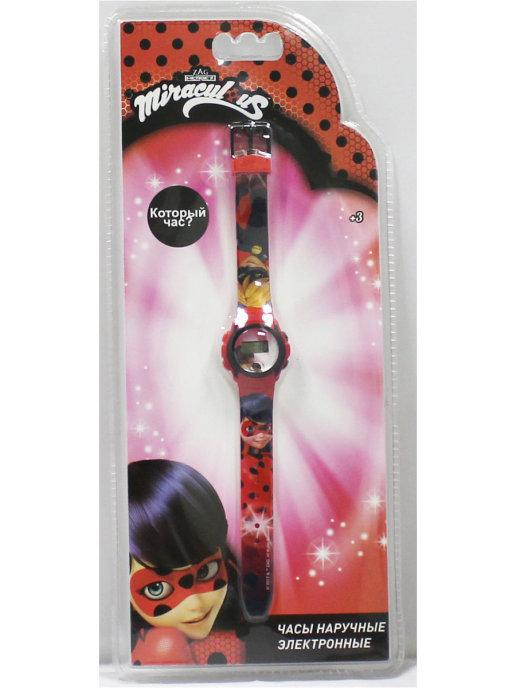 Часы наручные электронные Miraculous (Леди Баг и Супер-Кот)-Леди Баг и Супер-Кот