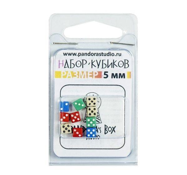 Набор Кубиков №1 мини – (5мм - 10шт.) в блистере