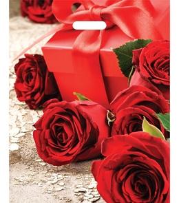 """Пакет полиэтиленовый """"Красные розы""""  (36,5смх48см) ПП-7339"""
