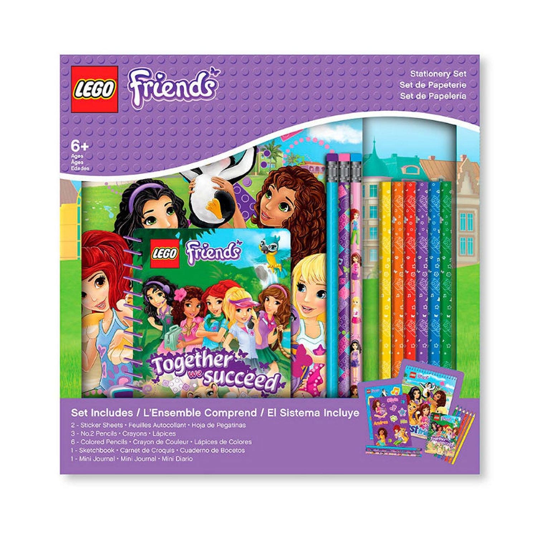 Набор канцелярских принадлежностей (13 шт. в комплекте) LEGO Friends (Подружки) (51607-10%)