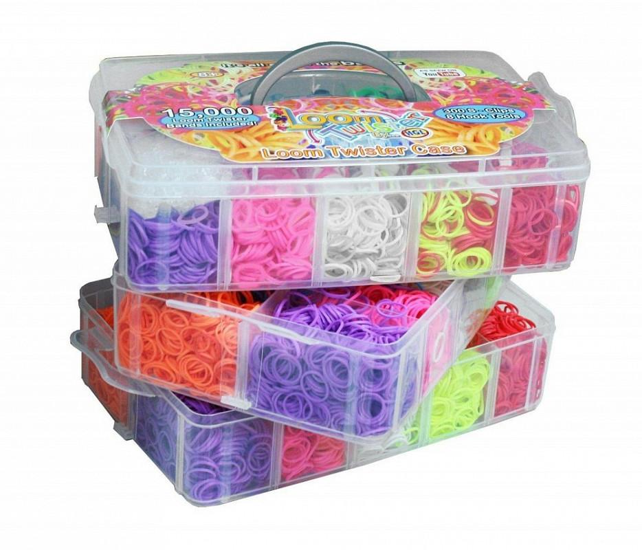 3-х ярусный набор для плетения браслетов из резинок LOOM TWISTER (SV11731) набор цветных резинок для плетения фенечек loom twister sv11617