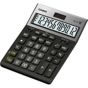 Калькулятор CASIO настольный GR-120-W-EP, 12 разрядов, двойное питание, 209х155 мм. С металлической панелью