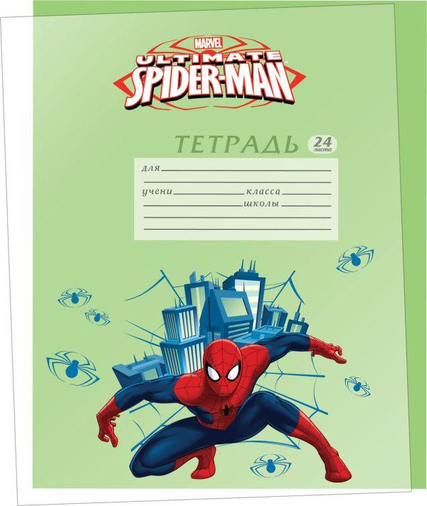 Обложки для тетрадей прозрачные с нанесением полноцветного изображения. 5 шт в наборе.  Размер 21,2 х 35 см. Упак. 150/300 шт.Spider-man SMAB-US1-PLB-