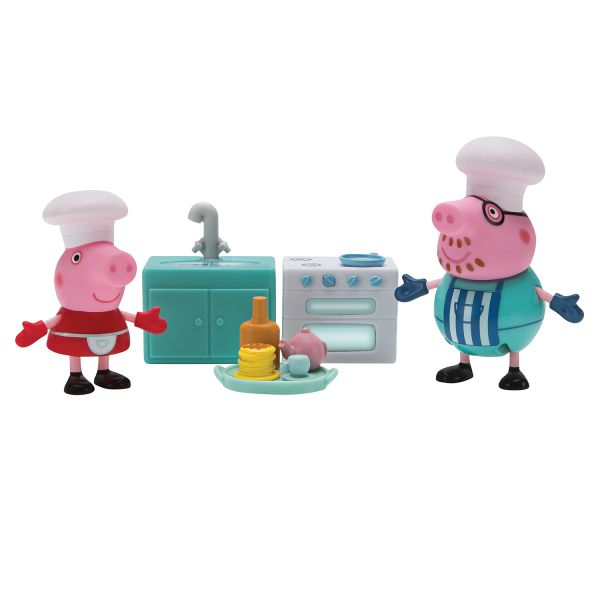 Свинка Пеппа. Пеппа и Папа пекут блинчики игр.наб.TM Peppa Pig Свинка Пеппа