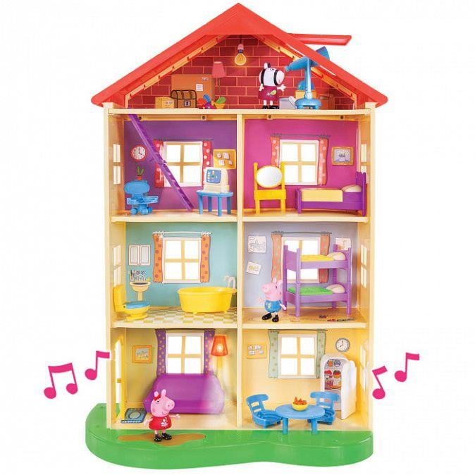 Свинка Пеппа. Большой дом Пеппы, 6 комнат свет и звук.TM Peppa Pig Свинка Пеппа