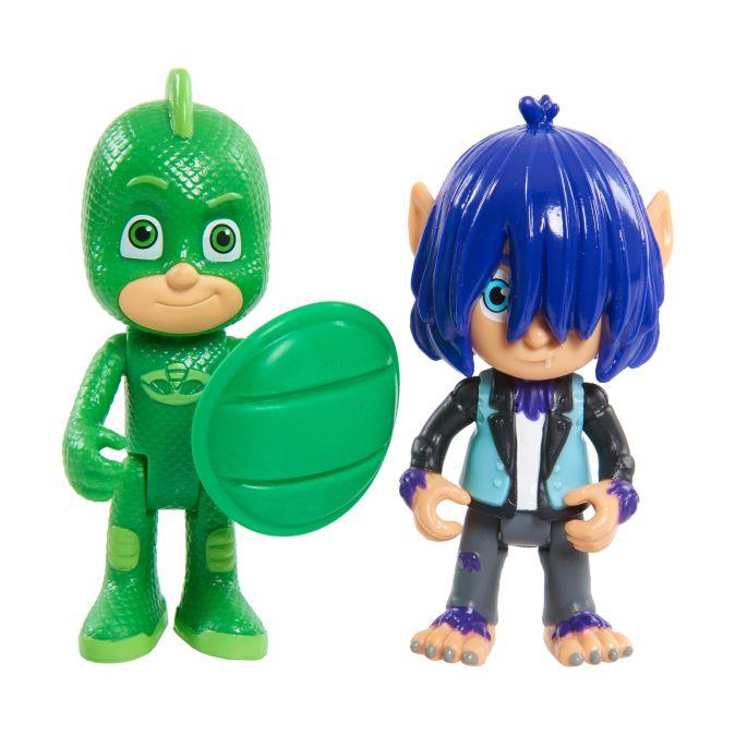 Герои в масках. Игр. набор 2 фигурки Гекко и Кевин 8 см. TM PJ Masks Герои в масках