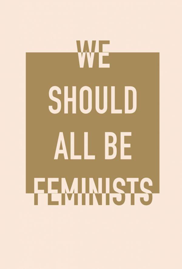 Блокнот. We should all be feminists (формат А5, тонированный блок, лента-ляссе) фото