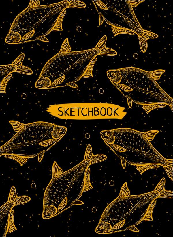 Скетчбук А5. Оранжевые Рыбы