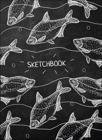 Скетчбук А5. Белые Рыбы