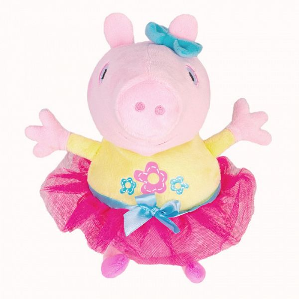 Свинка Пеппа. Мягкая игрушка Пеппа играет в прятки, звук. ТМ Peppa Pig Свинка Пеппа