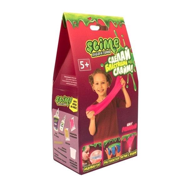 """Малый набор для девочек Slime """"Лаборатория"""",розовый, 100 гр."""