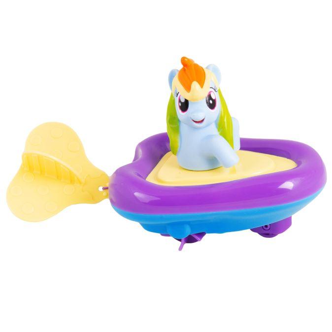 Мой маленький пони. Рейнбоу Дэш в заводной лодочке. ТМ MY LITTLE PONY Мой маленький пони