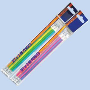 Набор 3 карандаша HB деревянные, заточенные, шестигранные, с ластиком (80708) - фото 1