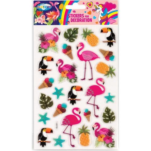 Декоративные наклейки объемные, пластиковые,  14x21cм (80538)