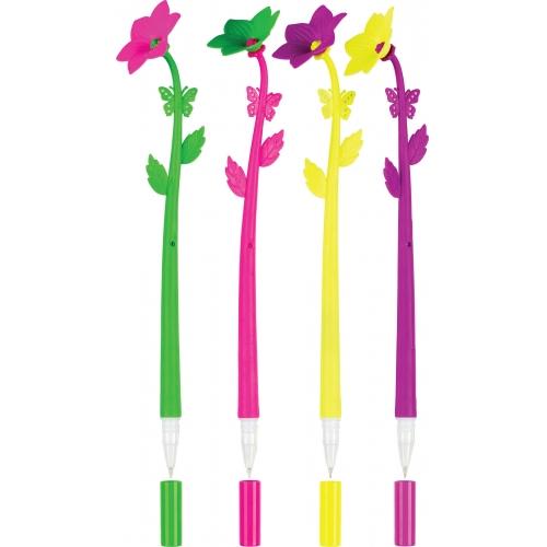 Ручка шариковая FANCY FLOWER, синие чернила, 0.7мм, цвета в ассорти, в дисплее