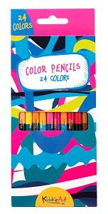 12 цветных двусторонних карандашей (24 цвета)