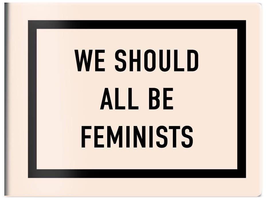 Кардхолдер. We should all be feminists (в форме книжки, 215х65 мм)