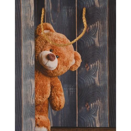 Пакет подарочный Dream Cards с матовой ламинацией 18х23х10 см Медвежонок ПКП-1269