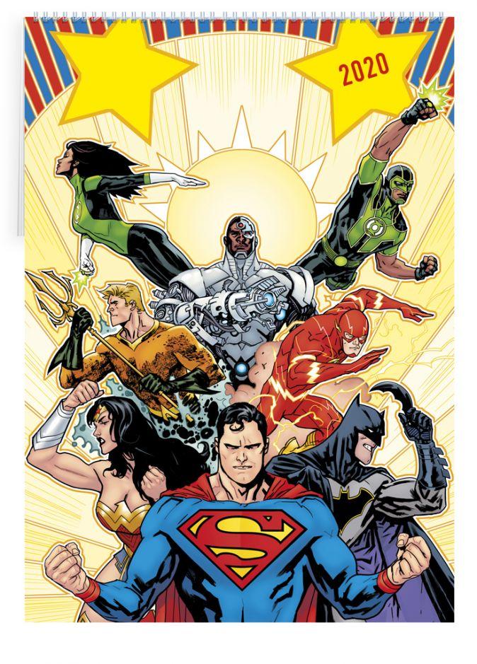 Вселенная DC Comics. Календарь настенный-постер на 2020 год (315х440 мм)