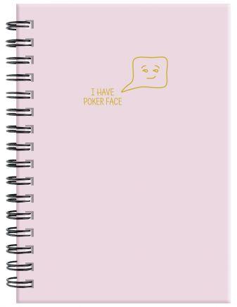 Ежедневник Poker face (пыльно-розовый). А5, твердый переплет на навивке, золотая матовая фольга, 224 стр.