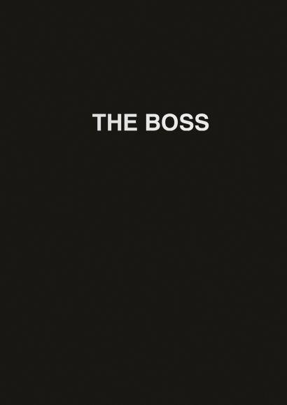 Ежедневник The boss (черный). А5, твердый переплет на навивке, золотая матовая фольга, 224 стр. - фото 1