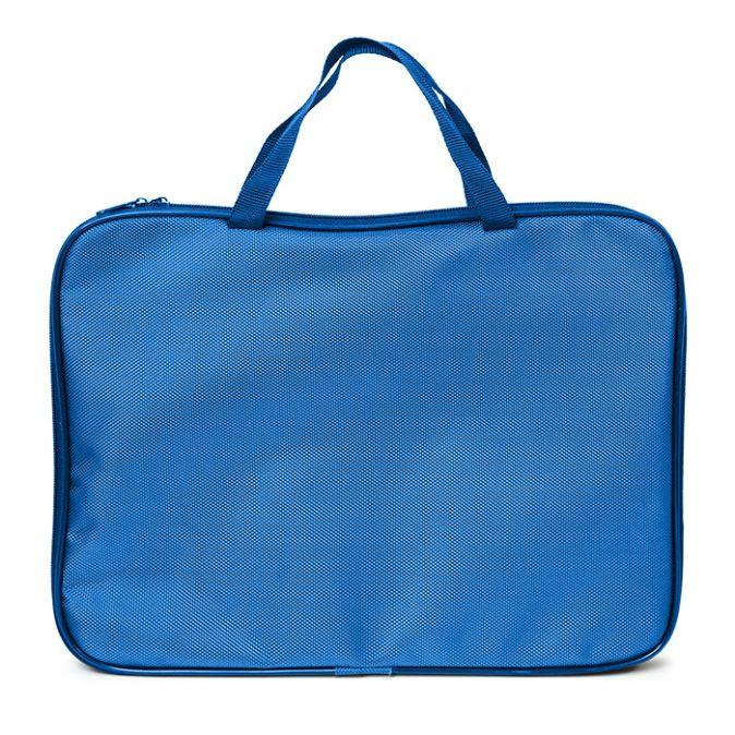 Папка д/труда А4 Creativiki 380х304х285 ручка ткань синий