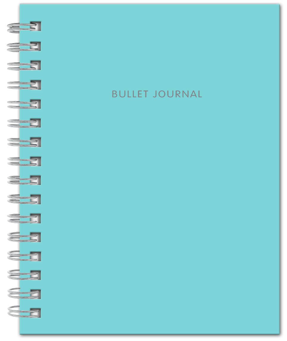 Bullet Journal (Бирюзовый) 162x210мм, твердая обложка, пружина, блокнот в точку, 120 стр. bullet journal бирюзовый 162x210мм твердая обложка пружина блокнот в точку 120 стр