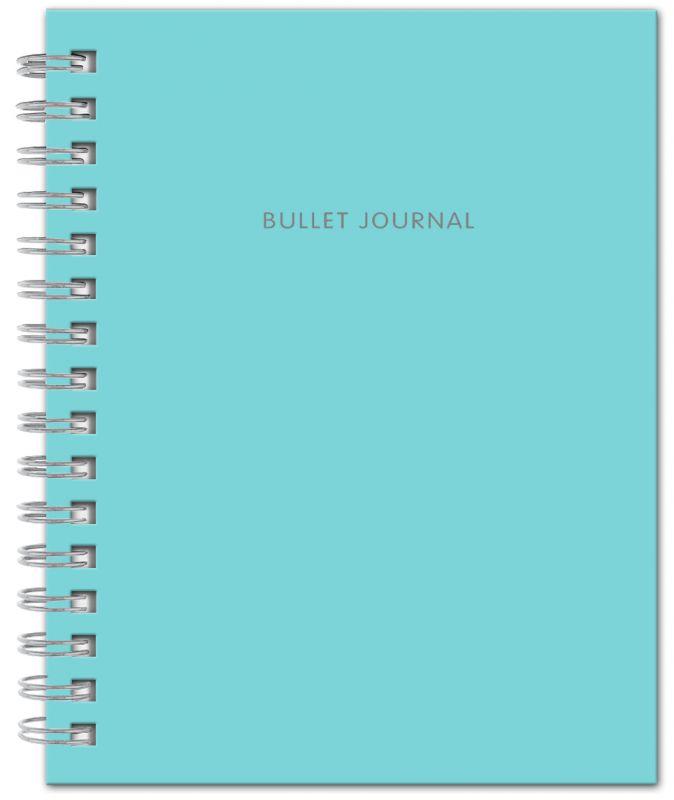 Bullet Journal (Бирюзовый) 162x210мм, твердая обложка, пружина, блокнот в точку, 120 стр.