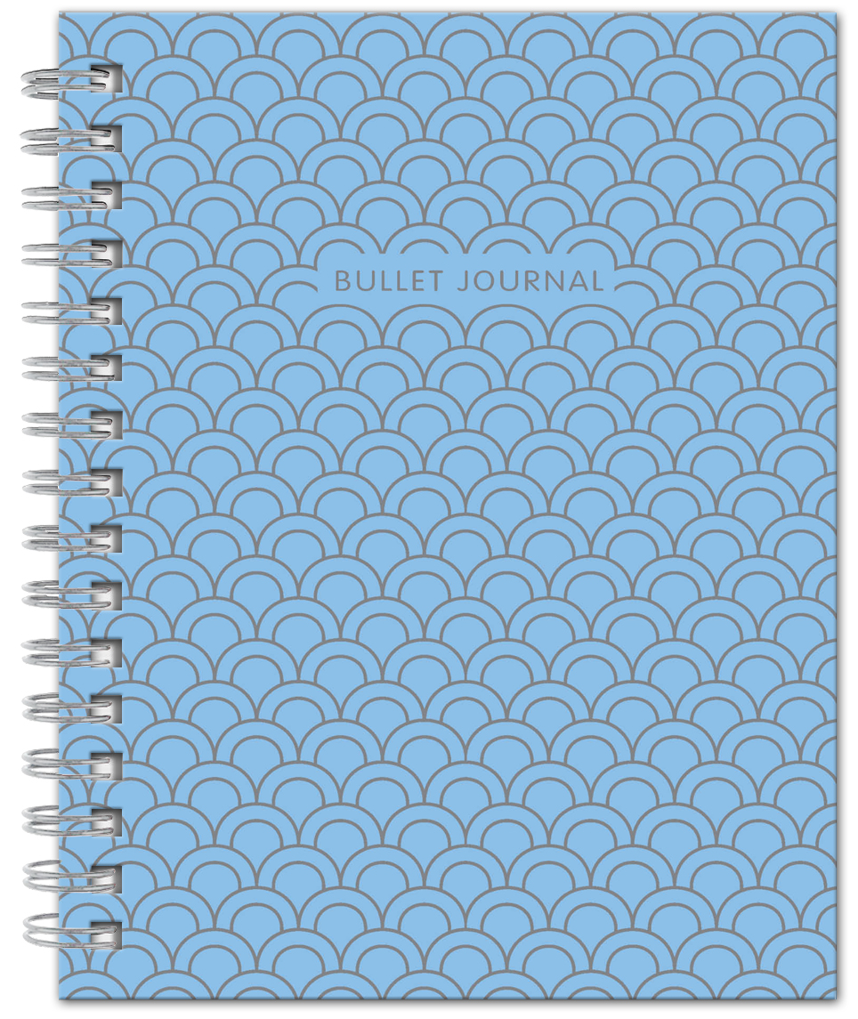 Bullet Journal (Голубой) 162x210мм, твердая обложка, пружина, блокнот в точку, 120 стр. bullet journal бирюзовый 162x210мм твердая обложка пружина блокнот в точку 120 стр