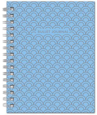 Bullet Journal (Голубой) 162x210мм, твердая обложка, пружина, блокнот в точку, 120 стр.