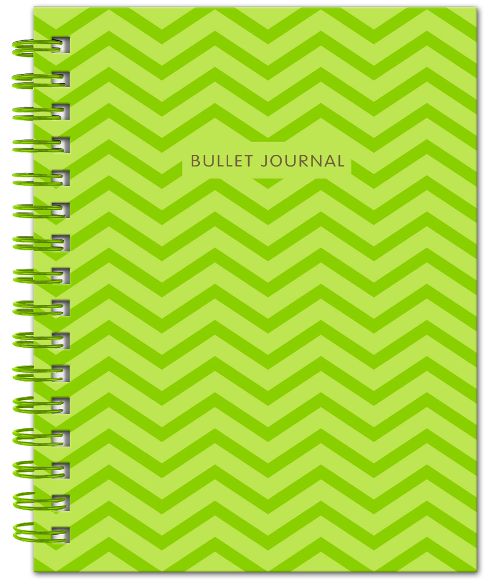 Bullet Journal (Зеленый) 162x210мм, твердая обложка, пружина, блокнот в точку, 120 стр.