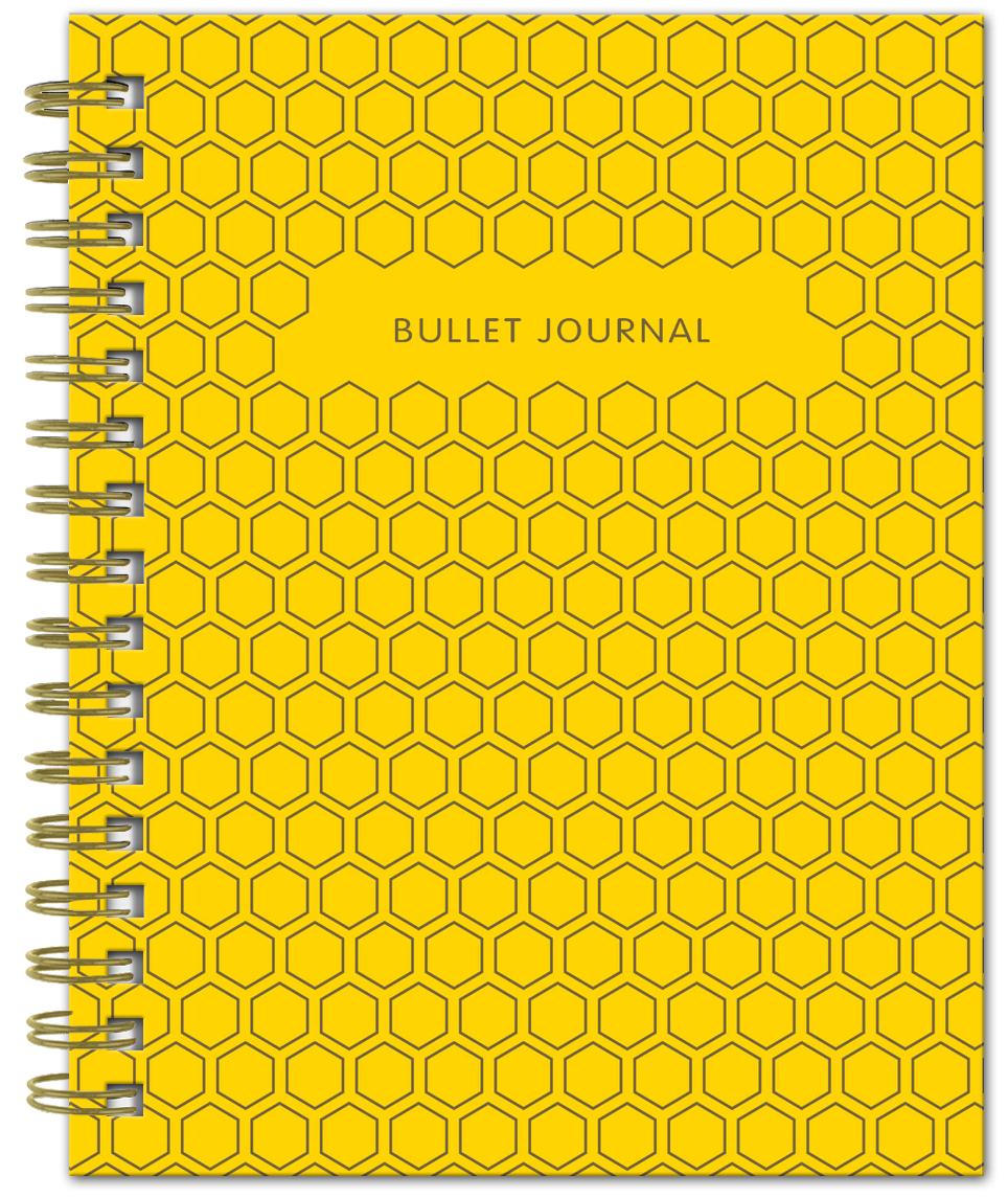 Bullet Journal (Желтый) 162x210мм, твердая обложка, пружина, блокнот в точку, 120 стр. bullet journal бирюзовый 162x210мм твердая обложка пружина блокнот в точку 120 стр