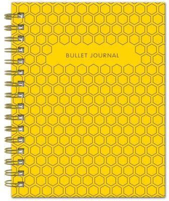 Bullet Journal (Желтый) 162x210мм, твердая обложка, пружина, блокнот в точку, 120 стр.