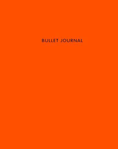 Книга для записей Bullet Journal, 60 листов, оранжевая - фото 1