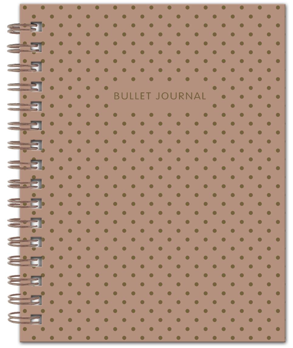 Bullet Journal (Коричневый) 162x210мм, твердая обложка, пружина, блокнот в точку, 120 стр. bullet journal бирюзовый 162x210мм твердая обложка пружина блокнот в точку 120 стр